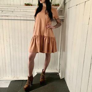 Zara tan dress